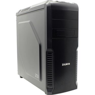 Корпус Zalman Z3 Black Mid Tower, ATX, USB3.0, 120mm Fan x3, fan controller, видео карты до 360мм, S
