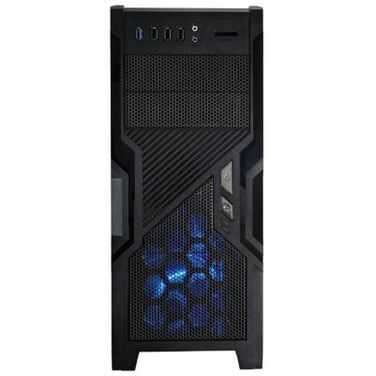 Корпус GameMax G505BK blue led, без БП