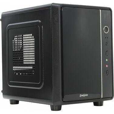 Корпус Exegate CB-563 Desktop Cube, Black, БП XP450, 80mm, mATX, 3*SATA, USB, Audio