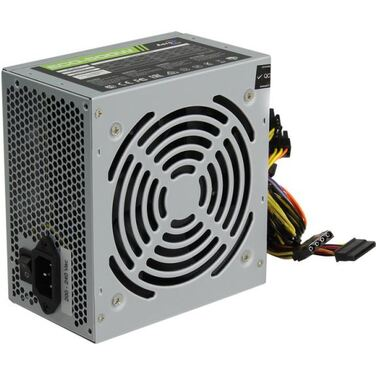 Блок питания 500W AeroCool ECO-500W ATX v2.3 Haswell, fan 12cm, 400mm cable, power cord, 20+4P, 12V