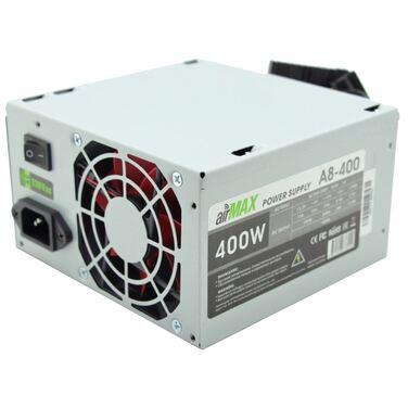 Блок питания 400W AirMax A8-400W (24+4+6пин, 80mm (SCP)\(OVP)\(OCP)\(UVP)\ATX 12V v.2.3)