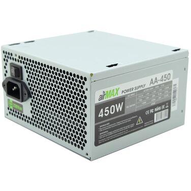 Блок питания 450W AirMax AA-450W ATX (24+4+6пин, 120mm (SCP)\(OVP)\(OCP)\(UVP)\ATX 12V v.2.3)