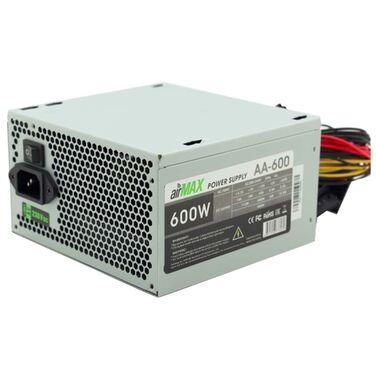 Блок питания 600W AirMax AA-600W ATX (24+4/4+4/6+2/2/4, 120mm (SCP)\(OVP)\(OCP)\(UVP)\ATX 12V v.2.3