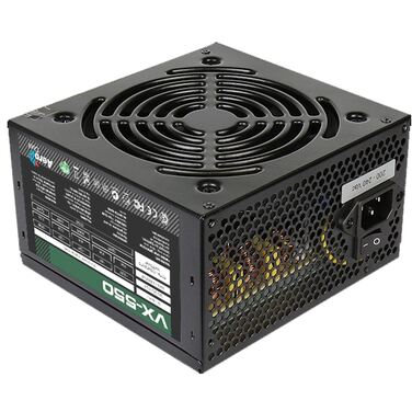 Блок питания 550W Aerocool VX-550 ATX v2.3 Haswell, fan 12cm, 450mm cable, power cord, PCI-E 6P/20+4
