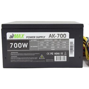Блок питания 700W AirMax AK-700W ATX (24+4+6пин, 140mm (SCP)\(OVP)\(OCP)\(UVP)\ATX 12V v.2.3)