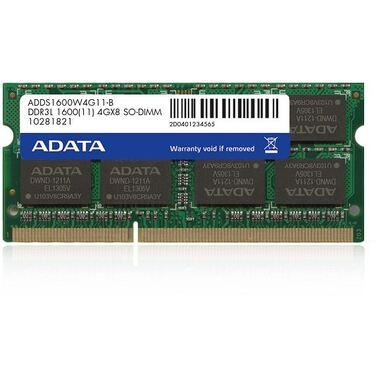 Память 4Gb DDR3 SODIMM 1600MHz ADATA ADDS1600W4G11-B