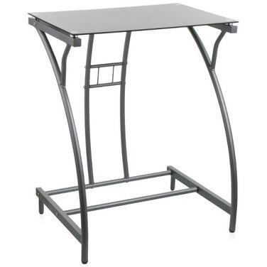 Стол компьютерный Бюрократ GD-002 столешница:черный закаленное стекло цвет основания:серебристый
