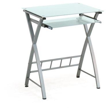 Стол компьютерный Бюрократ GD-003 столешница:черный закаленное стекло цвет основания:серебристый