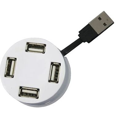 Хаб USB Perfeo 4 Port, (PF-VI-H025 White) белый