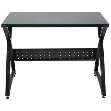 Стол компьютерный Бюрократ Omega-100 столешница:черный закаленное стекло 100x65x75см