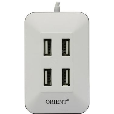 Хаб USB Orient MI-430, белый, USB 2.0