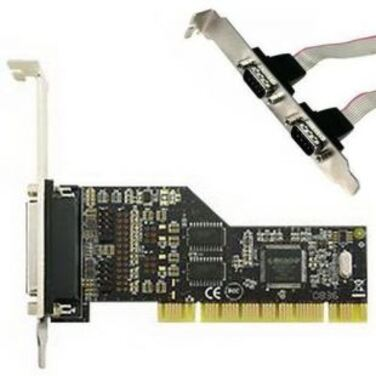 Контроллер Speed Dragon 2S1P PCI I/O card, 2xSerial RS232 + 1xParallel IEEE1284&10;Ports, (PMIO-V3T-0