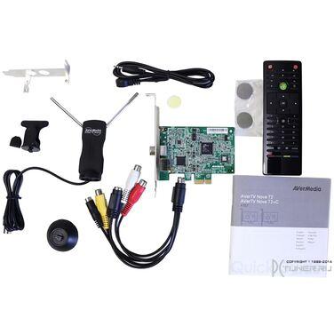 ТВ-тюнер AverMedia AVerTV Nova T2+C внутренний PCI-E/S-Video/RCA PDU HomeFreeTV APP Available!