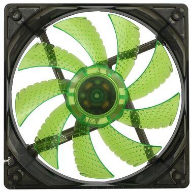 Вентилятор для корпуса GameMAX WindForce GMX-WF12G, зеленый, 12В, 120х120х25