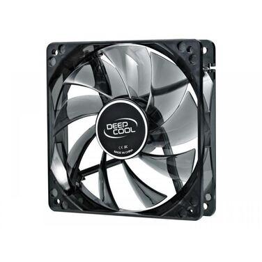Вентилятор DeepCool Wind Blade 120 120x120x25 3pin 27dB 1300rpm 119g голубой LED