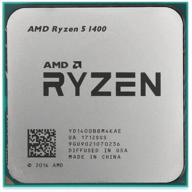 Процессор Soc-AM4 AMD Ryzen 5 1400 (3.2-3.4GHz/4x512KB+8MB/4C8T/65W) OEM