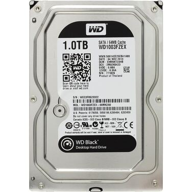 "Жесткий диск 3.5"" 1Tb SATA-III Western Digital Black WD1003FZEX (7200rpm) 64Mb"