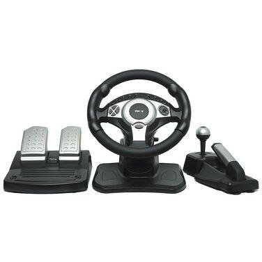 Руль Dialog GW-301 Race Winner II - эффект вибрации, 2 педали, коробка передач, USB