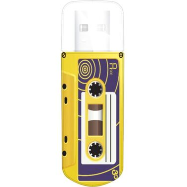 Память Flash Drive 16Gb Verbatim Mini Cassette Edition, Yellow, USB 2.0