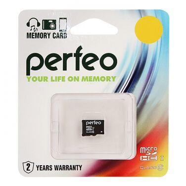 Карта памяти 16Gb Perfeo microSDHC Class 10 UHS-I (PF16GMCSH10)