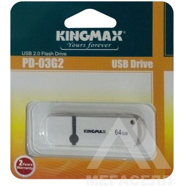 Память Flash Drive 32Gb Kingmax PD-03 White USB 2.0 (KM32GPD03B)