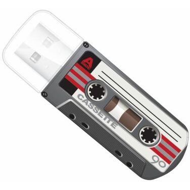 Память Flash Drive 16Gb Verbatim Mini Cassette Edition, Black, USB 2.0