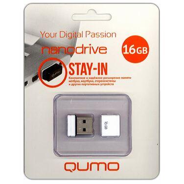 Память Flash Drive 16Gb QUMO NanoDrive White USB 2.0 (QM16GUD-NANO-W)
