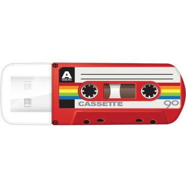 Память Flash Drive 16Gb Verbatim Mini Cassette Edition, Red, USB 2.0