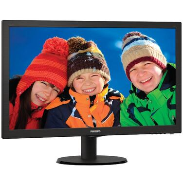Монитор 23.6  Philips 243V5QSBA Black (MVA, LED, 1920x1080, 8 ms, 178°/178°, 250 cd/m