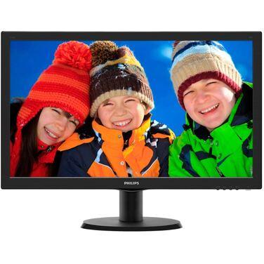 "Монитор 23.6"" Philips 243V5LHAB/00 (01) Black 1920x1080, LED, D-sub+DVI+HDMI, 5ms, TN, 170°/160°,"
