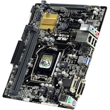 Материнская плата Soc-1151 Asus H110M-R/C/SI Intel H110 2xDDR4 mATX AC`97 8ch(7.1) GbLAN+VGA+DVI+HDM