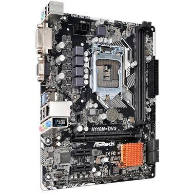 Материнская плата Soc-1151 Asrock H110M-DVS R2.0 Intel H110 2xDDR4 mATX AC`97 8ch(7.1) GbLAN+VGA+DVI