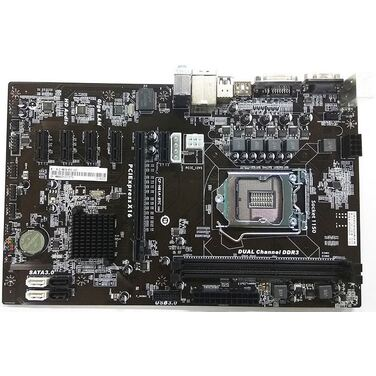 Материнская плата Soc-1150 Colorful C.H81A-BTC V20 2xDDR3-1600, VGA+D-SUB+HDMI, 1xPCI-Ex16, 5xPCI-Ex