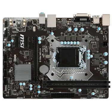 Материнская плата Soc-1151 MSI H110M PRO-D Intel H110 2xDDR4 mATX AC`97 8ch(7.1) GbLAN+DVI RTL