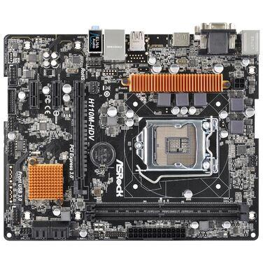 Материнская плата Soc-1151 Asrock H110M-HDV IntelH110/mATX/2xPCI-E1x/1xPCI-E16x/2DDR4/D-sub/DVI/HDMI