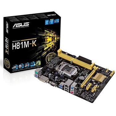 Материнская плата Soc-1150 Asus H81M-K iH81 DDR3 mATX AC`97 8ch GbLAN SATA3 VGA+DVI RTL