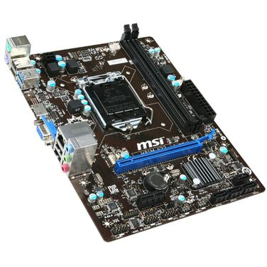 Материнская плата Soc-1150 MSI H81M-E33, iH81, mATX, 2xDDR3 SATA, Giga Lan, 8ch, VGA/HDMI RTL