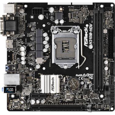 Материнская плата Soc-1151v2 ASRock H310M-HDV 2xDDR4 mATX AC`97 8ch(7.1) GbLAN+VGA+DVI+HD RTL