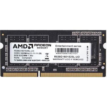 Память 4Gb DDR3L SODIMM 1600MHz AMD (R534G1601S1SL-UO) CL11, 1.35V OEM