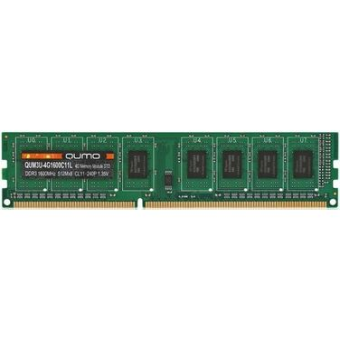 Память 4Gb DDR3L 1600MHz QUMO PC-12800 CL11 1.35V