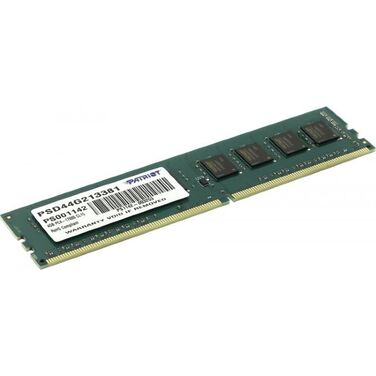 Память 4Gb DDR4 2133MHz Patriot PSD44G213381 RTL PC4-17000 CL15 DIMM 288-pin 1.2В
