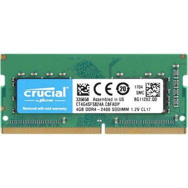 Память 4GB DDR4 SODIMM 2400MHz Crucial CT4G4SFS824A