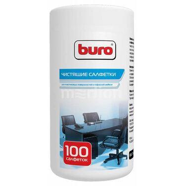 Туба с чистящими салфетками BURO, для пластиковых поверхностей и офисной мебели, 100 шт (BU-Tsurl)