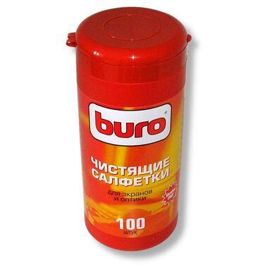 Запасной блок к тубе с чистящими салфетками BURO для экранов и оптики, 100шт. BU-Zscreen