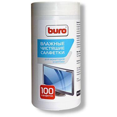 Туба с чистящими салфетками BURO, для экранов и оптики, 100 шт (BU-Tscreen)
