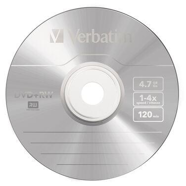 Диск DVD-RW Verbatim 4.7Gb, 4x, 10шт., Cake Box, (43552), перезаписываемый DVD диск