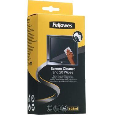 Спрей FELLOWES FS-99701 для чистки экранов 120 мл. и 20 абсорбирующих салфеток