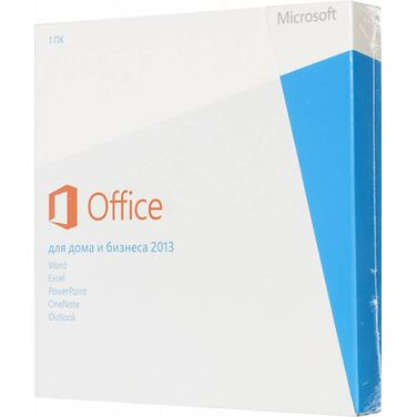 Программное обеспечение Microsoft Office 2013 Home and Business 32/64 Russian Russia Only EM DVD No