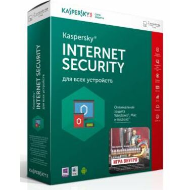 Антивирус Kaspersky Internet Security Multi-Device Russian Edition.2-Device 1 year Base Box (KL1941R