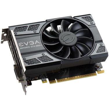 Видеокарта 4Gb EVGA GeForce GTX 1050Ti REF ACX , DVI-D+HDMI+DP, (04G-P4-6251-KR) RTL